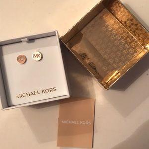 Michael Kors initial studs